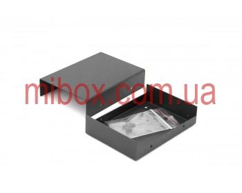 Корпус металлический MB-44 (Ш75 Г105 В25) черный, RAL9005(Black textured)