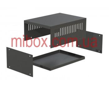 Корпус металлический MB-45 (Ш155 Г220 В90) черный, RAL9005(Black textured)
