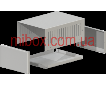 Корпус металлический MB-45 (Ш155 Г220 В90) металик, RAL9006(Metallic textured)