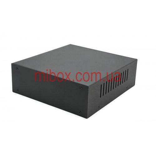Корпус металлический MB-5 (Ш190 Г200 В65) черный, RAL9005(Black textured)