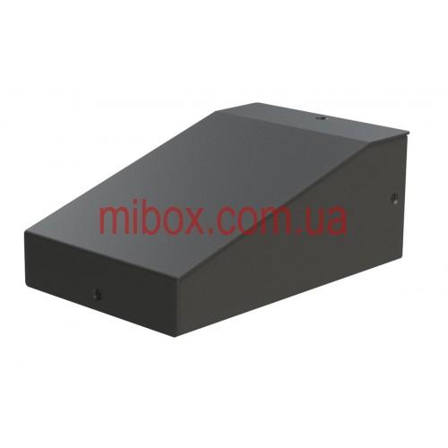 Корпус металлический с наклонной панелью MB-8 (Ш90 Г125 В60) черный, RAL9005(Black textured)