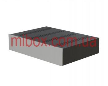 Корпус металлический с алюминиевой панелью MB-20 (Ш430 Г310 В90) черный, RAL9005(Black textured)