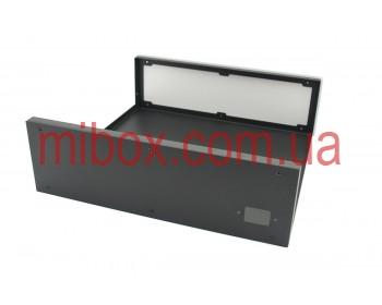 Корпус металлический с алюминиевой панелью MB-21 (Ш320 Г3100 В100) черный, RAL9005(Black textured)