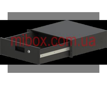 Корпус металлический Rack 3U, модель MB-3400RD (Ш483(432) Г400 В132 черный, RAL9005(Black textured)