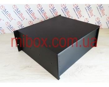 Корпус металлический Rack 4U, модель MB-4400RCRD-W430H176L400, RAL9005 (Black textured)