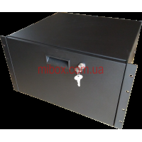 Корпус металлический Rack 6U, модель MB-6400RD (Ш483(432) Г400 В264 черный, RAL9005(Black textured)