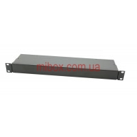 Корпус металлический Rack 1U, модель MB-1100RCS-W430H44L100, RAL9005(Black textured)