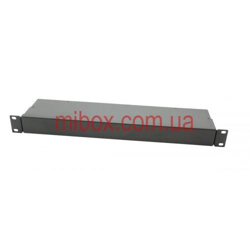 Корпус металлический Rack 1U, модель MB-1100S (Ш483(432) Г102 В44) черный, RAL9005(Black textured)