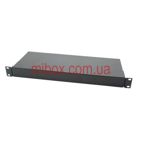 Корпус металлический Rack 1U, модель MB-1160S (Ш483(432) Г162 В44) черный, RAL9005(Black textured)