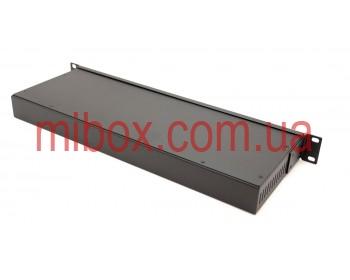 Корпус металлический Rack 1U, модель MB-1160vRCS-W430H44L160, RAL9005(Black textured)