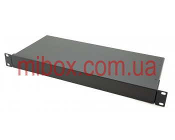 Корпус металлический Rack 1U, модель MB-1200S (Ш483(432) Г202 В44) черный, RAL9005(Black textured)