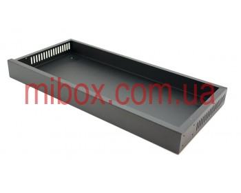 Корпус металлический Rack 1U, модель MB-1200vS (Ш483(432) Г202 В44) черный, RAL9005(Black textured)