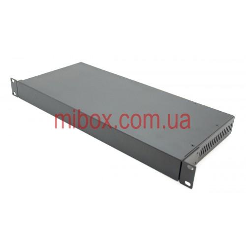 Корпус металлический Rack 1U, модель MB-1200vRCS-W430H44L200, RAL9005(Black textured)