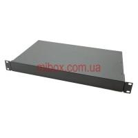 Корпус металлический Rack 1U, модель MB-1260RCS-W430H44L260, RAL9005(Black textured)