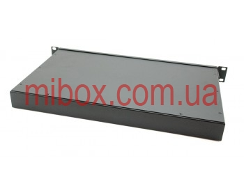 Корпус металлический Rack 1U, модель MB-1260S (Ш483(432) Г262 В44) черный, RAL9005(Black textured)