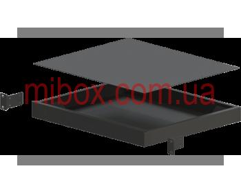 Корпус металлический Rack 1U, модель MB-1370S (Ш483(432) Г372 В44) черный, RAL9005(Black textured)