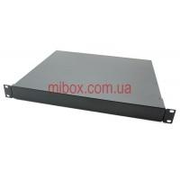 Корпус металлический Rack 1U, модель MB-1370RCS-W430H44L370, RAL9005(Black textured)