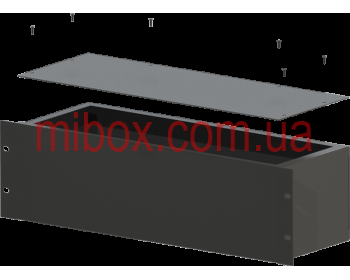 Корпус металлический Rack 3U, модель MB-3160S (Ш483(432) Г162 В132) черный, RAL9005(Black textured)
