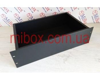 Корпус металлический Rack 3U, модель MB-3260S (Ш483(432) Г262 В132) черний, RAL9005(Black textured)