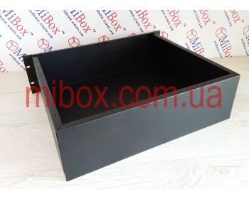 Корпус металлический Rack 3U, модель MB-3370S (Ш483(432) Г372 В132) черний, RAL9005(Black textured)