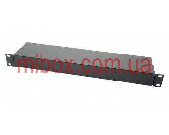 Корпус металлический Rack 1U, модель MB-1100RCSP-W430H44L100, RAL9005(Black textured)