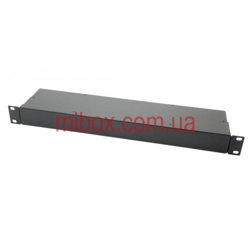 Корпус металлический Rack 1U, модель MB-1100SP (Ш483(432) Г102 В44) черный, RAL9005(Black textured)