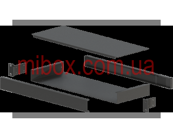 Корпус металлический Rack 1U, модель MB-1160SP (Ш483(432) Г162 В44) черный, RAL9005(Black textured)