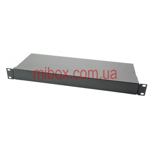 Корпус металлический Rack 1U, модель MB-1160RCSP-W430H44L160, RAL9005(Black textured)