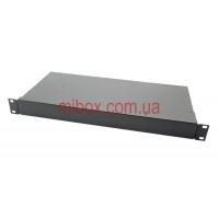 Корпус металлический Rack 1U, модель MB-1200SP (Ш483(432) Г202 В44) черный, RAL9005(Black textured)
