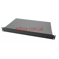 Корпус металлический Rack 1U, модель MB-1260RCSP-W430H44L260, RAL9005(Black textured)