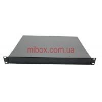 Корпус металлический Rack 1U, модель MB-1310SP (Ш483(432) Г312 В44) черный, RAL9005(Black textured)