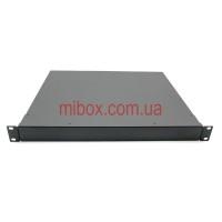 Корпус металлический Rack 1U, модель MB-1370SP (Ш483(432) Г372 В44) черный, RAL9005(Black textured)