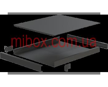 Корпус металлический Rack 1U, модель MB-1520RCSP-W430H44L520, RAL9005(Black textured)
