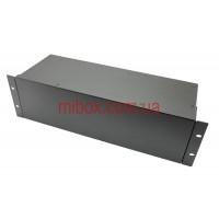 Корпус металлический Rack 3U, модель MB-3160RCSP-W430H132L160, RAL9005(Black textured)