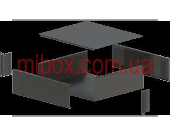 Корпус металлический Rack 3U, модель MB-3370SP (Ш483(432) Г372 В132) черный, RAL9005(Black textured)