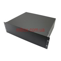 Корпус металлический Rack 3U, модель MB-3370RCSP-W430H132L370, RAL9005(Black textured)