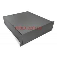 Корпус металлический Rack 3U, модель MB-3520SP (Ш483(432) Г522 В132) черный, RAL9005(Black textured)