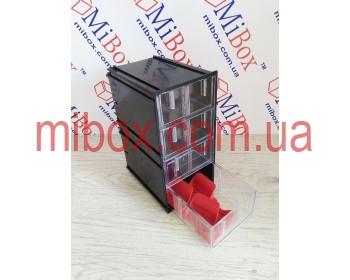 Сортовик КБ-4, прозрачный, размер блока/ящика (ШхГхВ): 95х124х188мм/86х120х44мм